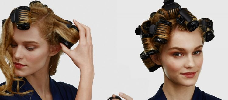 How should you make use of hair rollers for long hair?